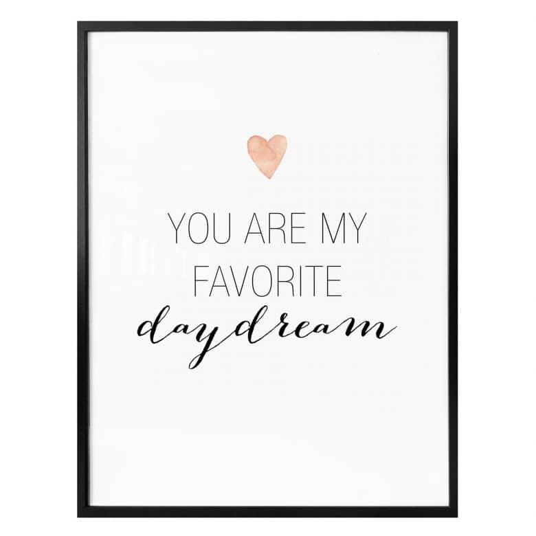 Poster Confetti & Cream - You are my favorite daydream