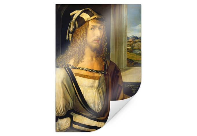 Poster Dürer - Selbstbildnis mit Landschaft