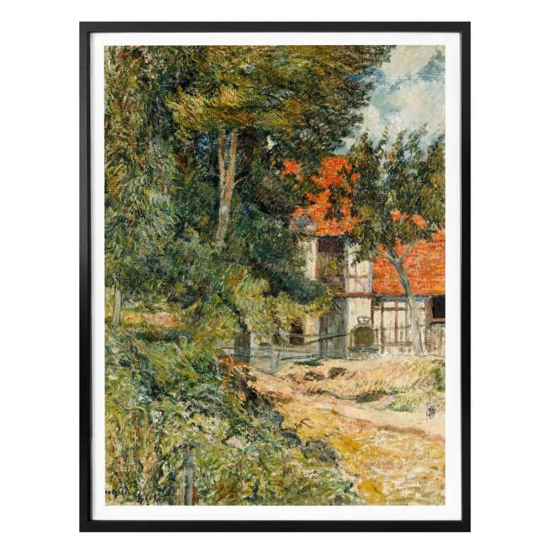 Poster Gauguin - Bauernhaus in der Normandie