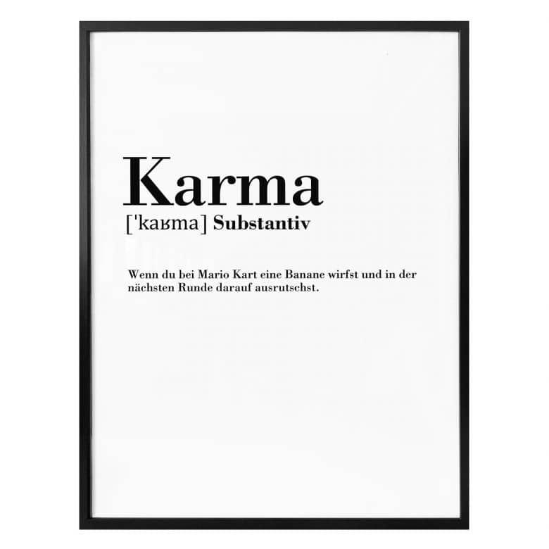 Poster Grammatik Karma