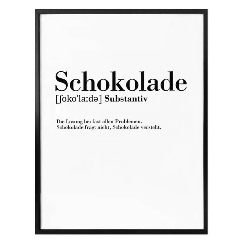 poster grammatik  schokolade  wallartde