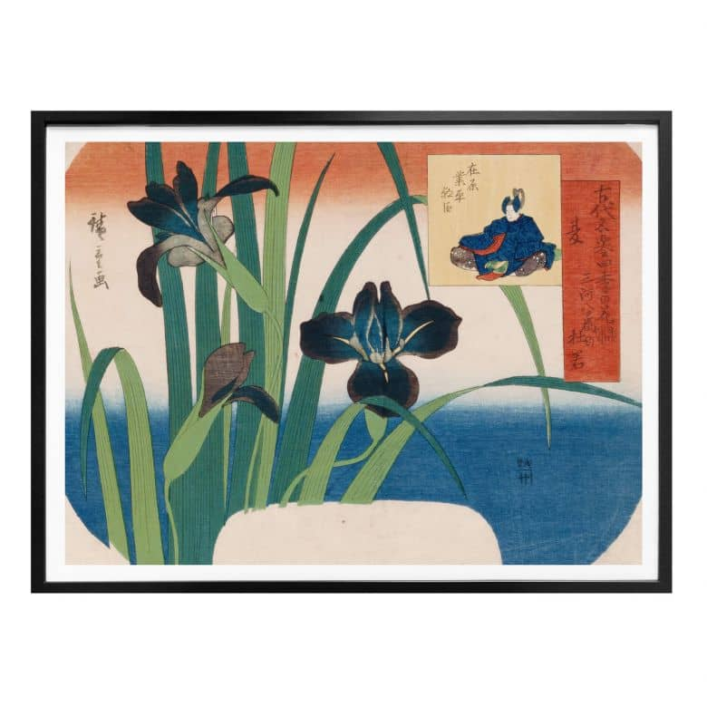 Poster Hiroshige - Schwertlilien