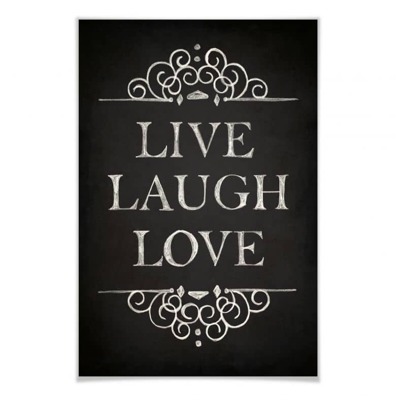 Poster Live Laugh Love