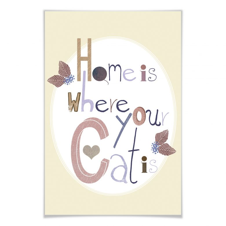 Poster Loske - Home is where your cat is
