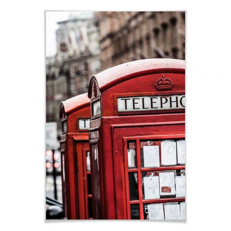 Poster - Cabine téléphonique britannique