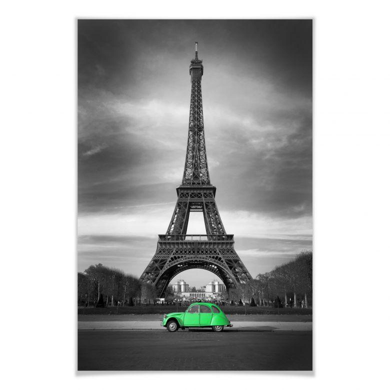 Poster La vie est belle - grün
