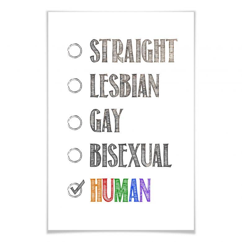 Poster Be human