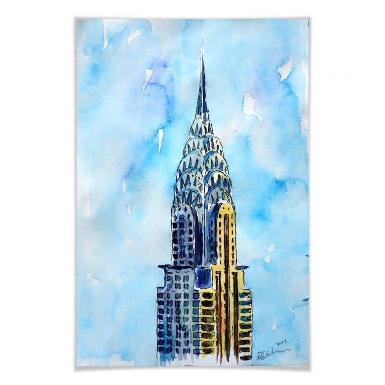 Poster Bleichner - Chrysler Building in NYC