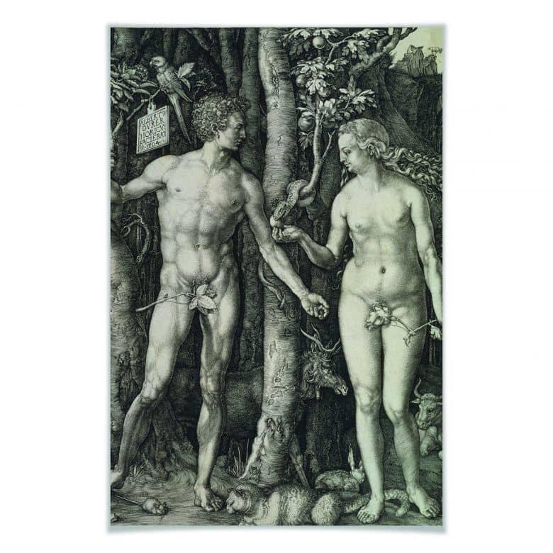Poster Dürer - Adam und Eva
