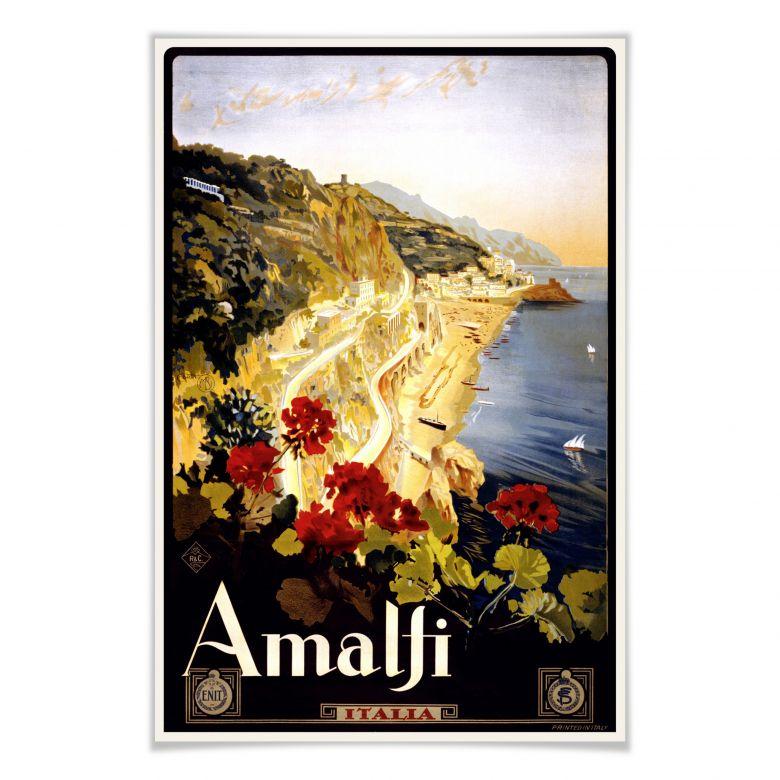 Poster Vintage Travel - Amalfi