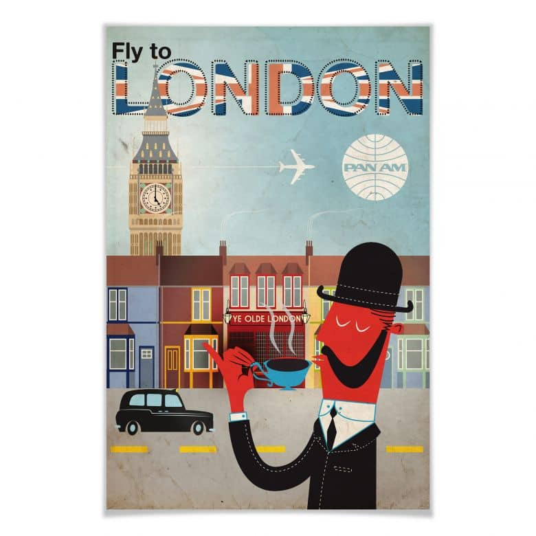 Affiche PAN AM - Fly to London