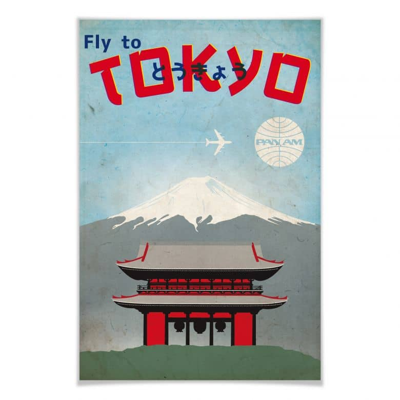 Affiche PAN AM - Fly to Tokyo
