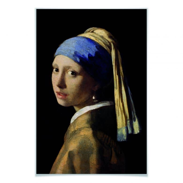 Poster Vermeer - Das Mädchen mit dem Perlenohrgehänge