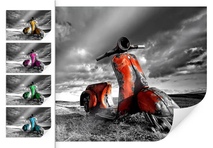 Poster Ingibergsson - Old rusted Vespa - Farbauswa