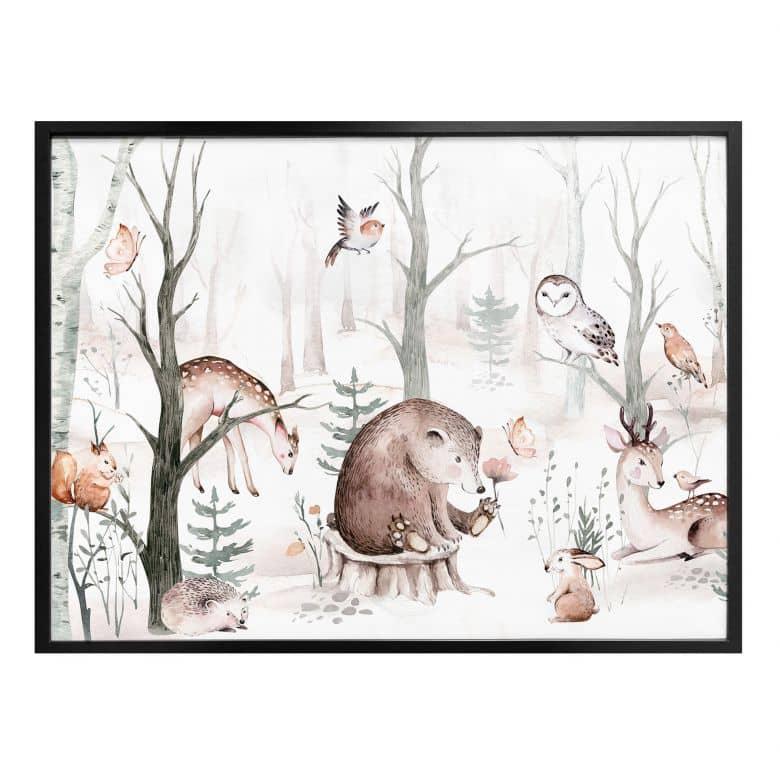 Poster Kvilis - Tierfreunde im Wald