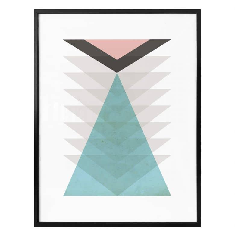 Poster Nouveauprints - Totem aqua & pink
