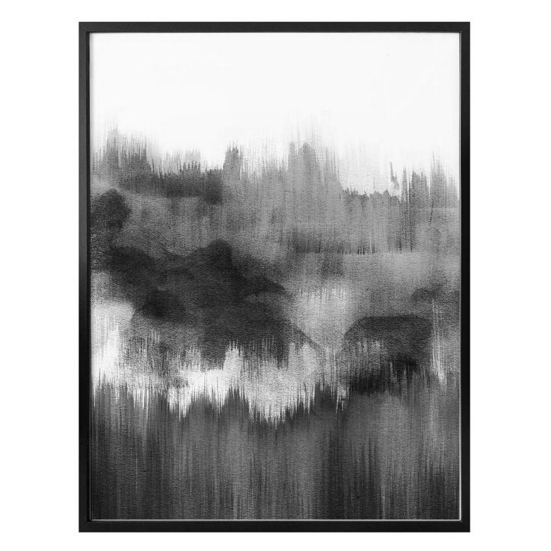 Poster Nouveauprints - Watercolour Brush Strokes (schwarz)