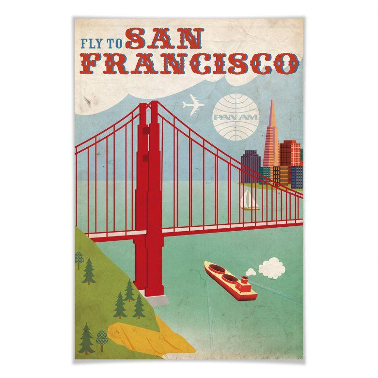 Poster PAN AM  - Fly to San Francisco