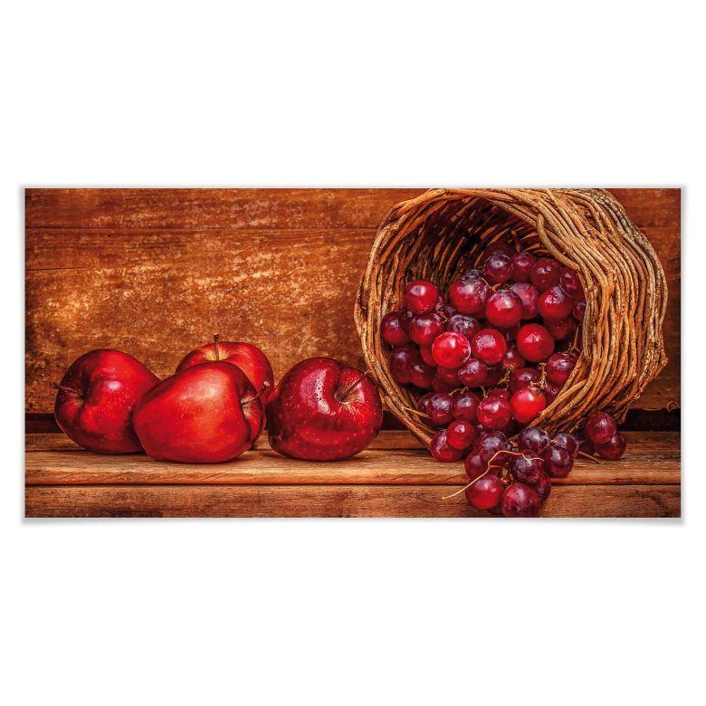 Poster Perfoncio - Rote Früchte - Panorama
