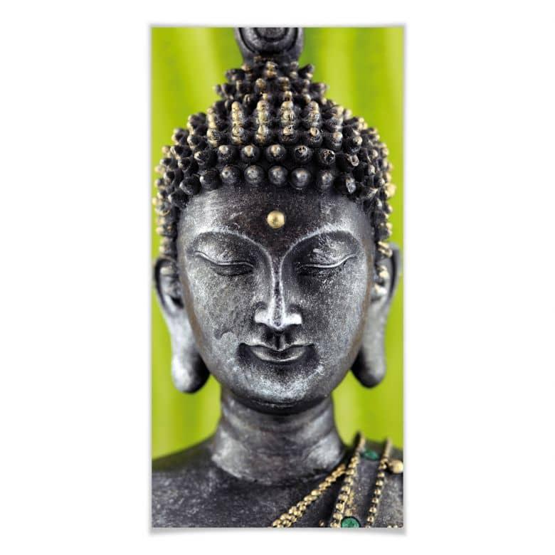 Poster Green Buddha
