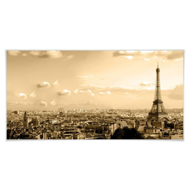 Poster Paris Skyline - Panorama