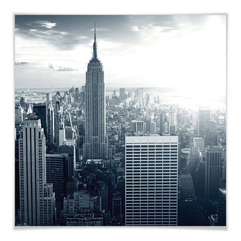 Poster -The Empire State Building - carré