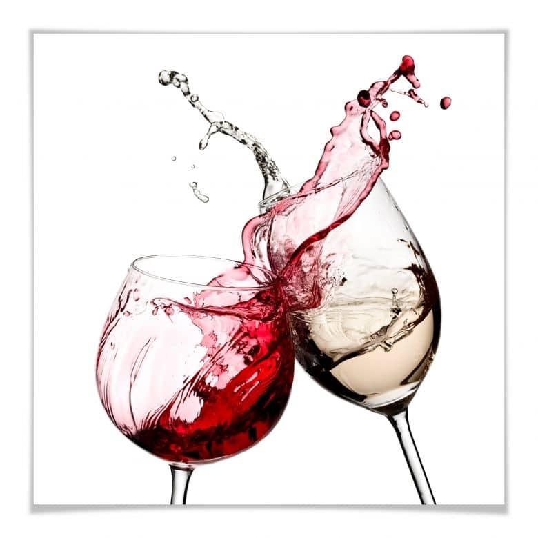 Poster wine glasses