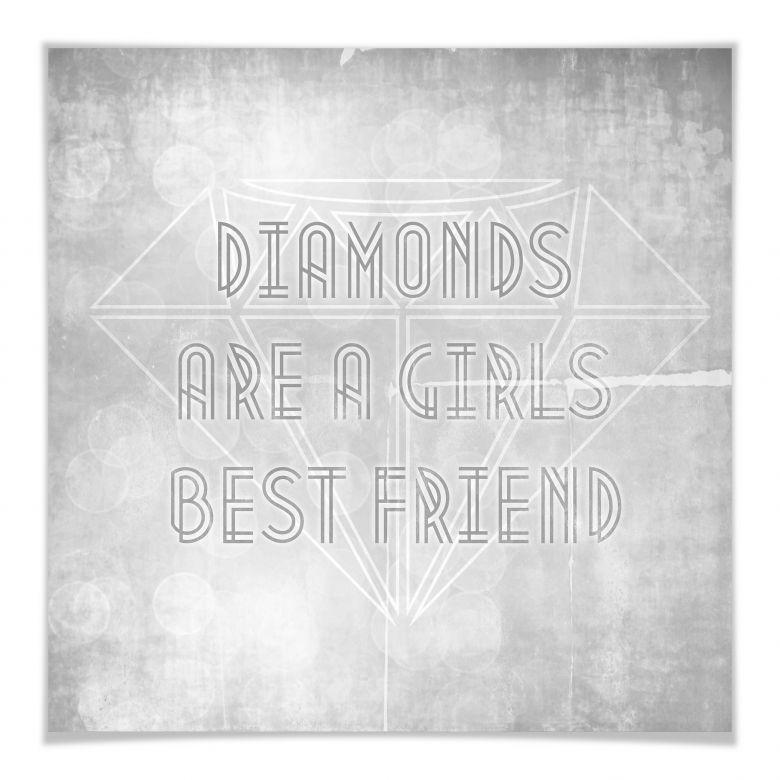 Poster Diamonds are a Girls best Friend