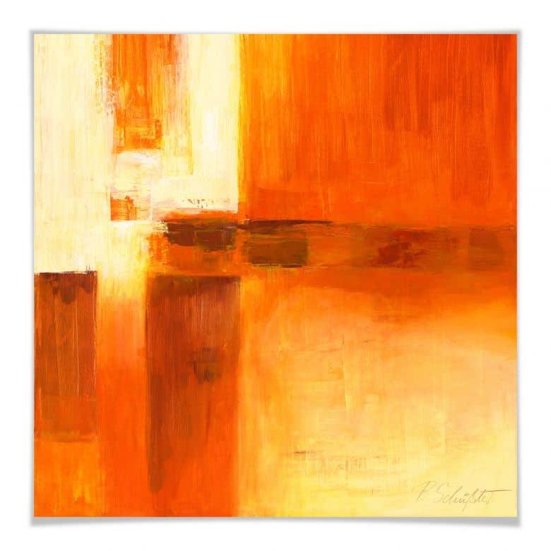 Poster Schüßler - Composition in Orange and Brow