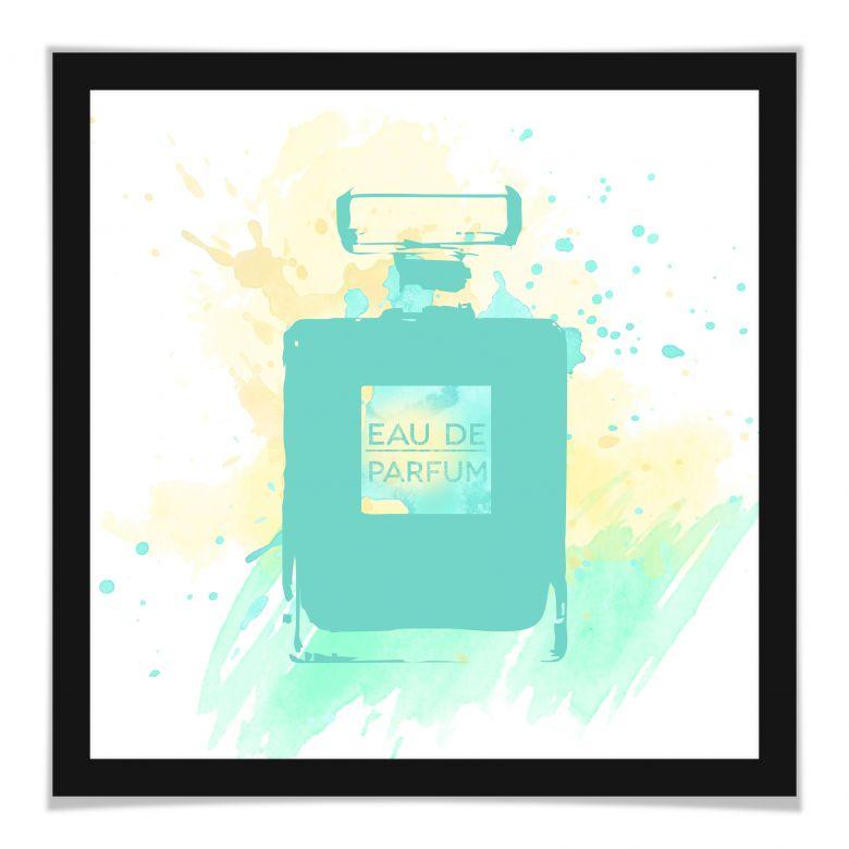 Poster Eau de Parfum Aquarell - Mint