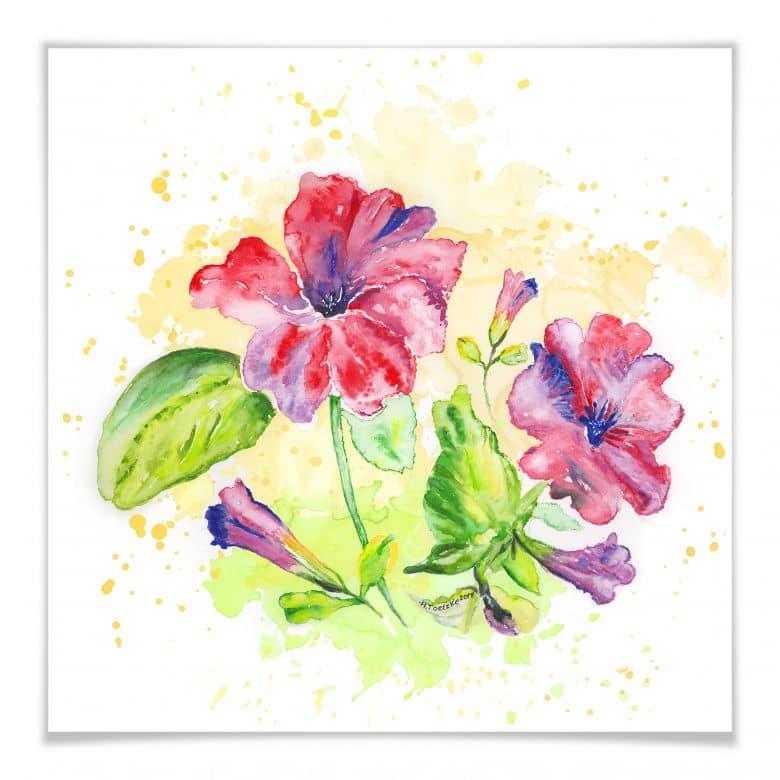 Poster Toetzke - Leuchtender Blütenkelch - quadra