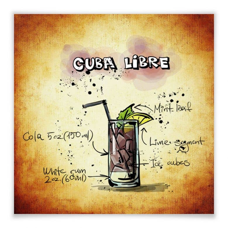 Poster Cuba Libre - Rezept