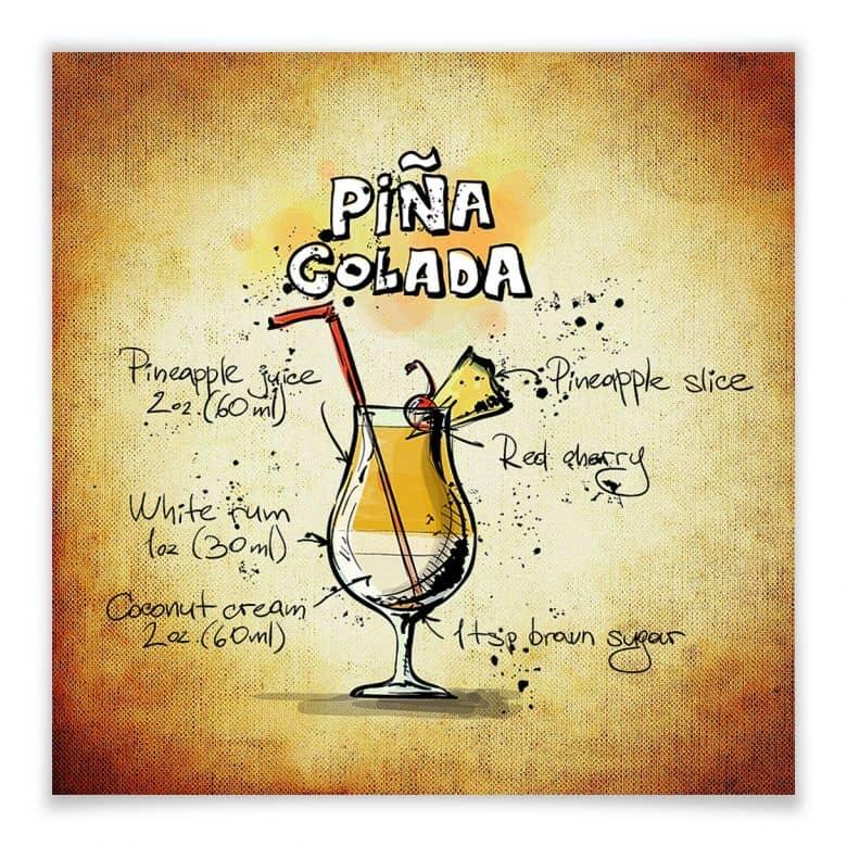 Poster Pina Colada - Rezept