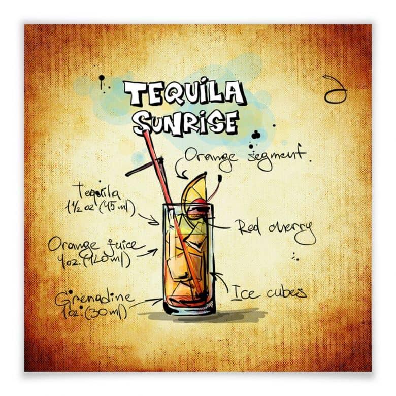 Poster Tequila Sunrise - Rezept