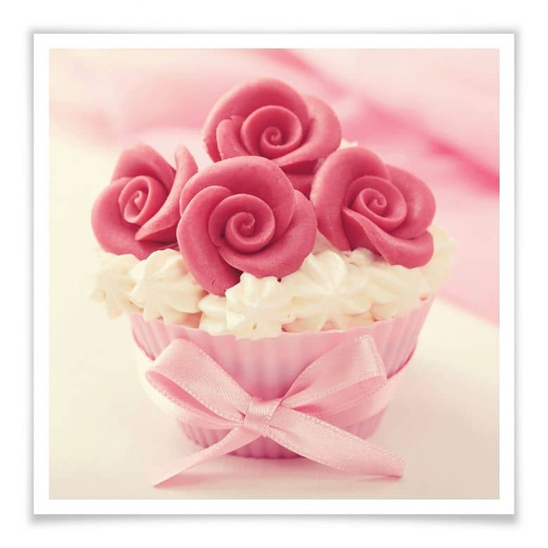Poster Roses on Cupcake