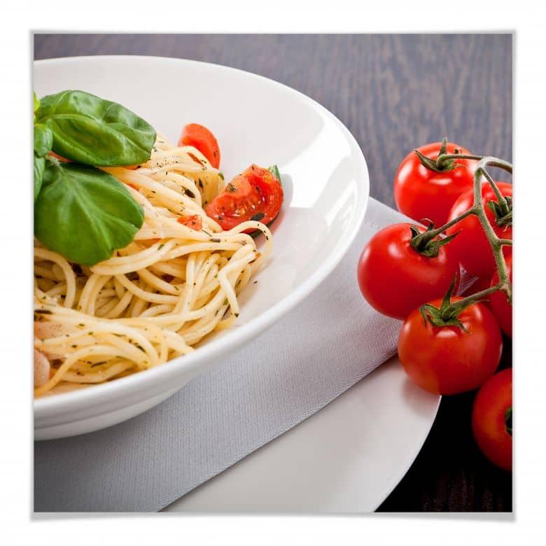 Poster Pasta Italiano - quadratisch