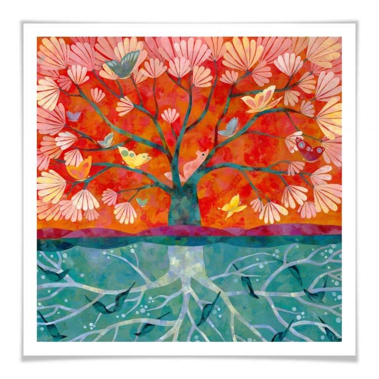 Poster - Aurélie Blanz - Baum des Lebens | wall-art.de