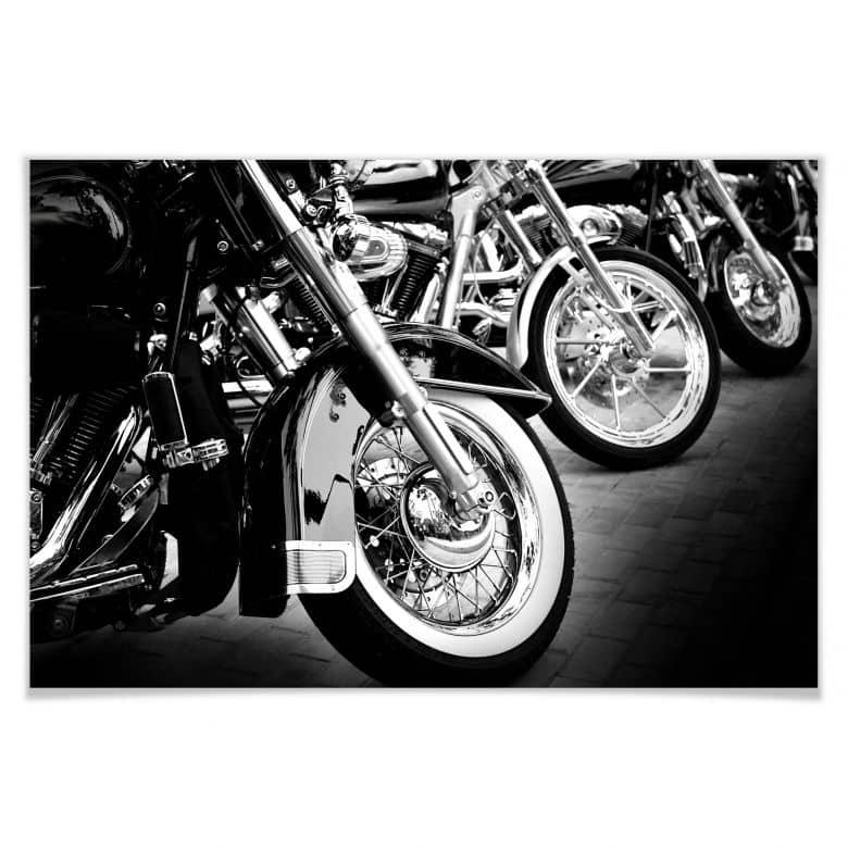 Poster Motorcycle Wheels