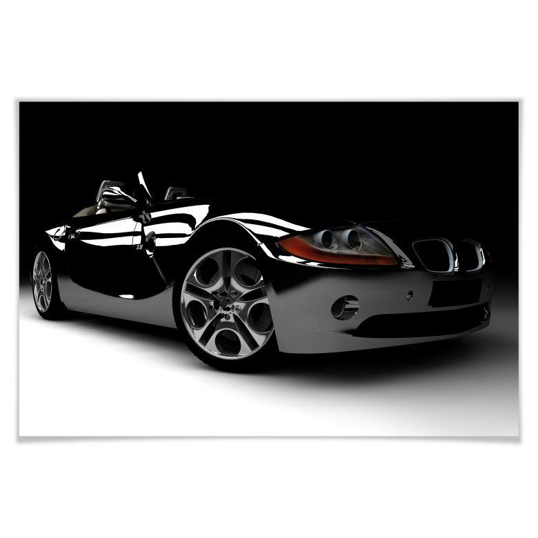 Poster Black Car 01