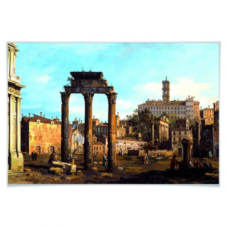 Poster Canaletto - Forum mit Tempel von Kastor und Pollux