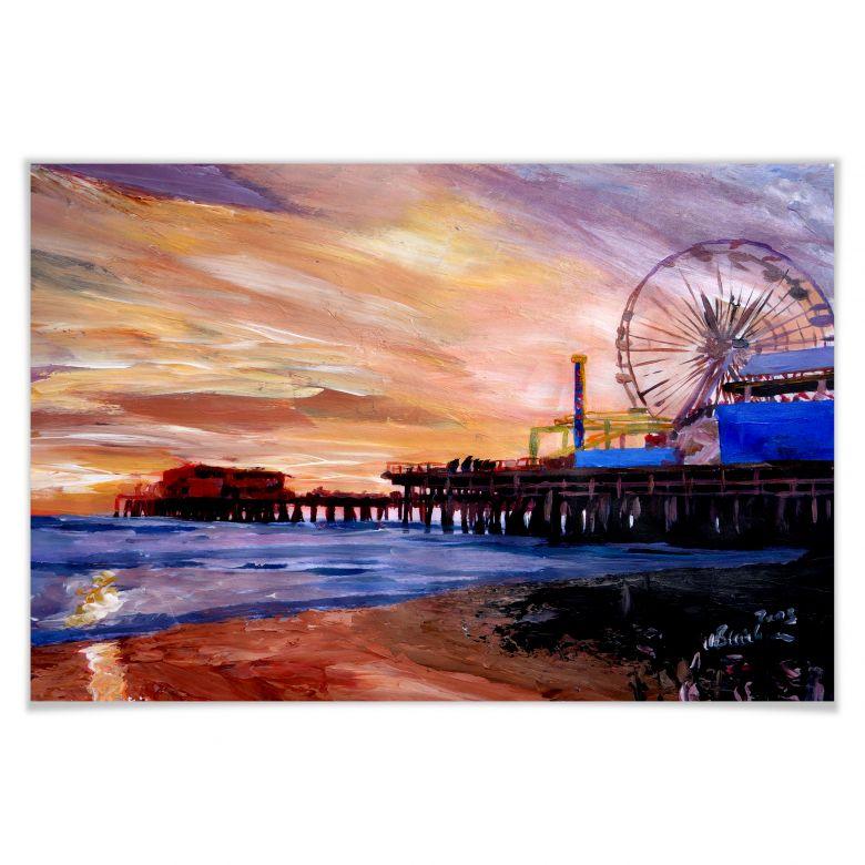 Poster Bleichner - Santa Monica Pier