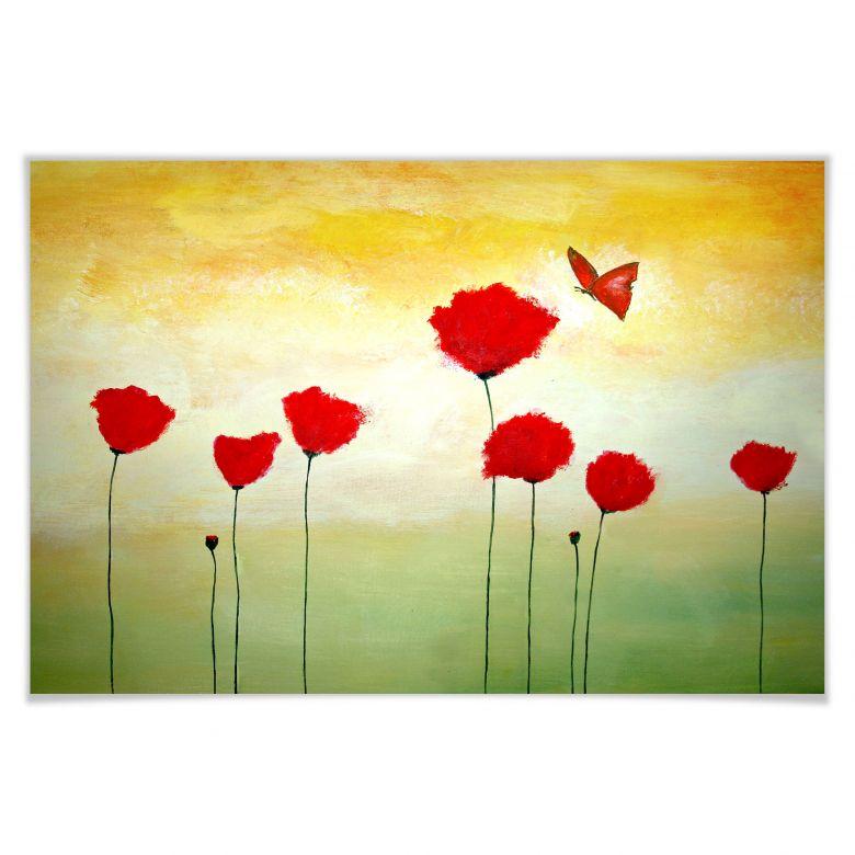 Poster Melz - Kleiner Schmetterling
