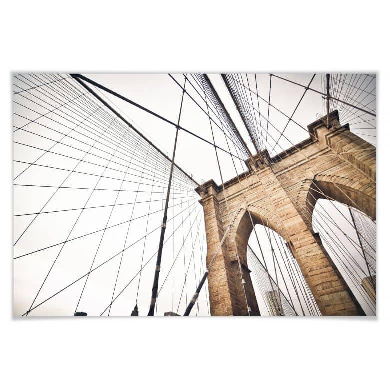 Poster - Brooklyn Bridge Perspective 02
