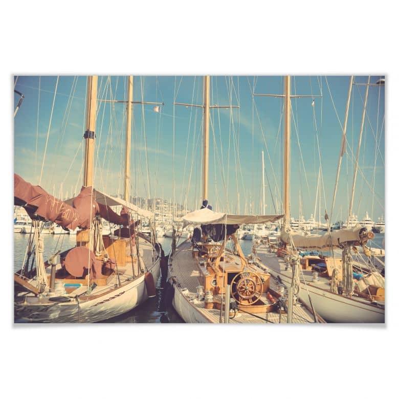Poster Segelschiffe im Hafen