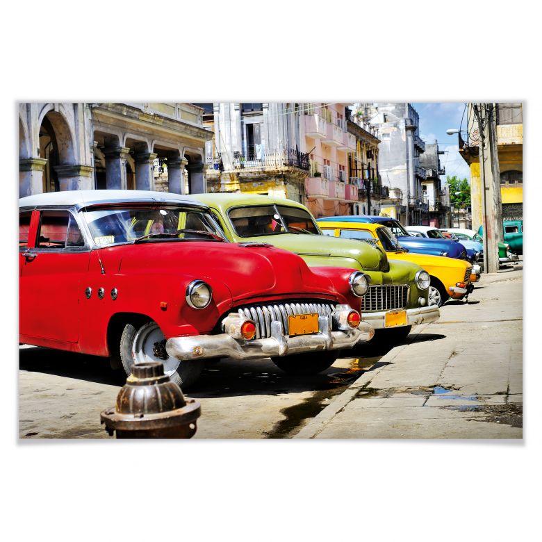 Poster Cuba Cars