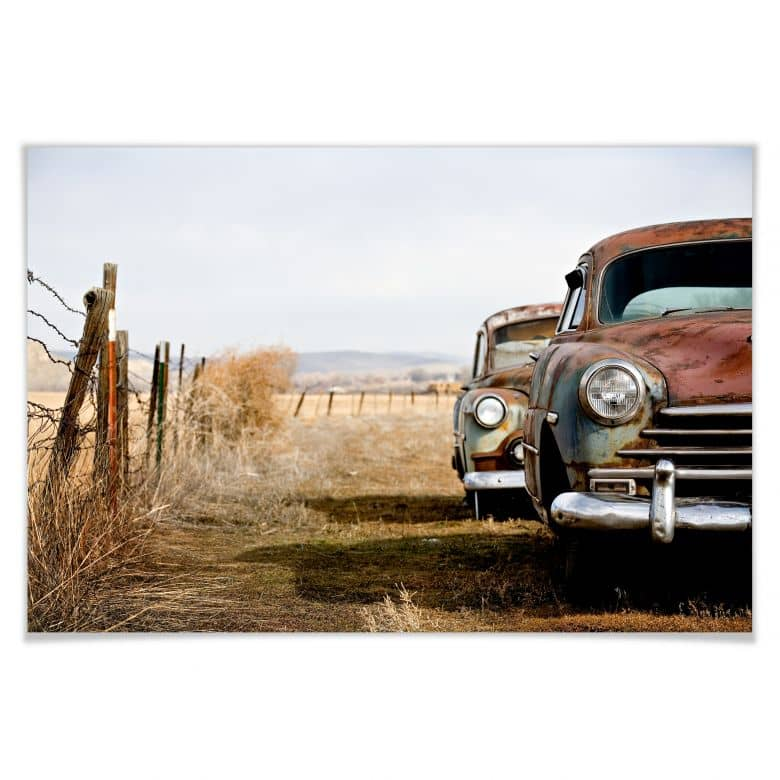Poster Old rusted Cars