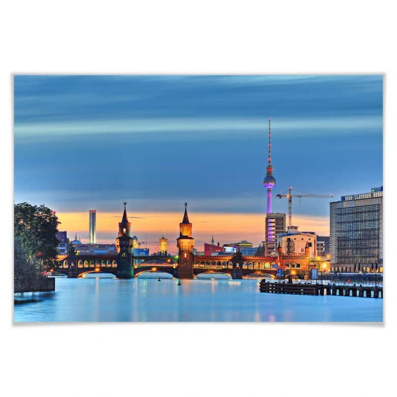 Poster -Oberbaumbrücke Berlin