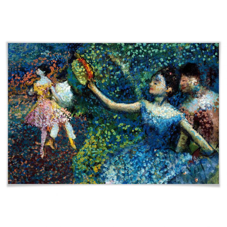 Poster Degas - Tänzerin mit Tambourin
