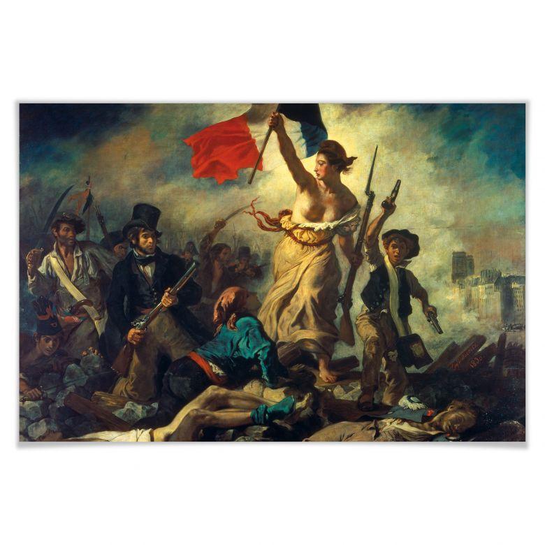 Poster Delacroix - Die Freiheit führt das Volk