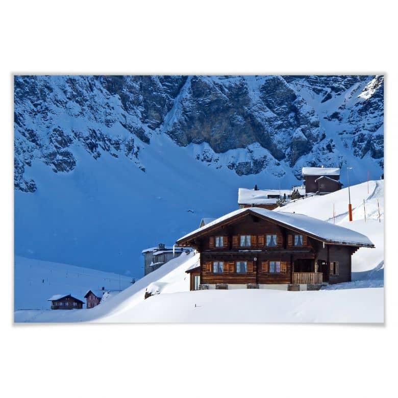 Poster Ferienhütte in den Schweizer Alpen